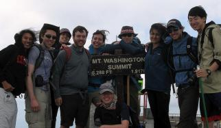 Students at Mt. Washington Summit