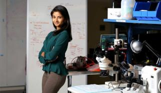 Shriya Srinivasan, an HST MEMP PhD student, is the winner of one of the Lemelson-MIT student prizes